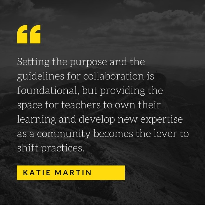 Ultimately, teachers are the ones orchestrating experiences in their classrooms, they should be making decisions about what they are learning based on their needs and those of their students. (4)