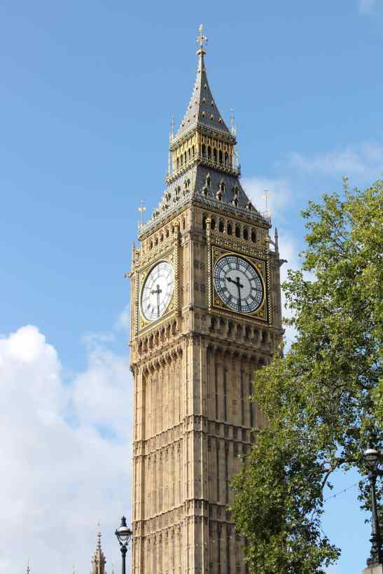 take a trip to iconic big ben to hear the bell chime on the hour