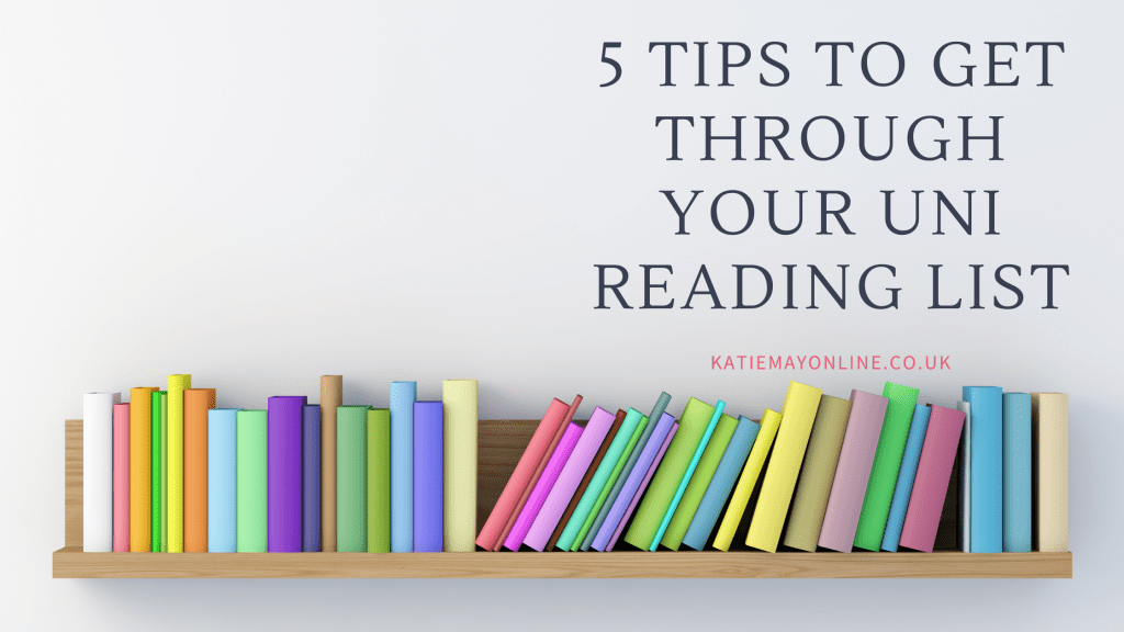 tips for getting through your reading assignments