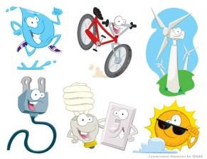 Character designs for SDG&E Kids' website