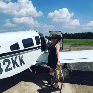 The fabulously dressed Summer Sieben Austin taking off to fly with the angels.