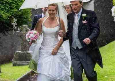 wedding templeton devon tiverton photographer rain