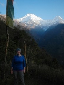 Annapurna South view from Chhomrong.