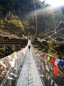 A new suspension bridge.