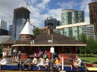 Train ride at Steam Whistle Brewing.