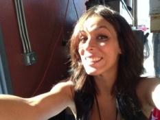 Raina couldn't resist a selfie.