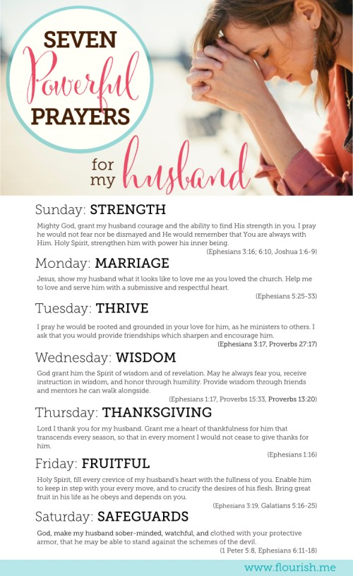 Seven Powerful Prayers for My Husband PIN