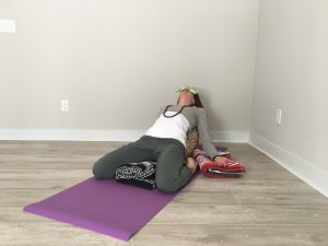 restorative yoga pose of the week  reclined hero's pose