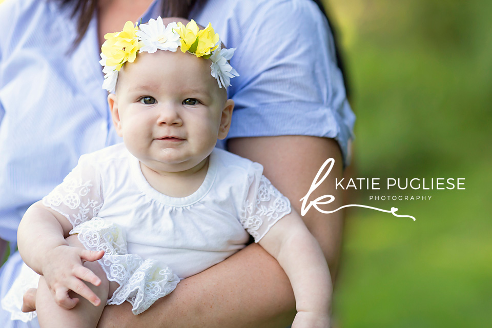 Six month baby girl photo session