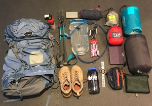 Five Faves Camping Edition: Camping gear layout for a 2-day backpacking trip to the North Cascades