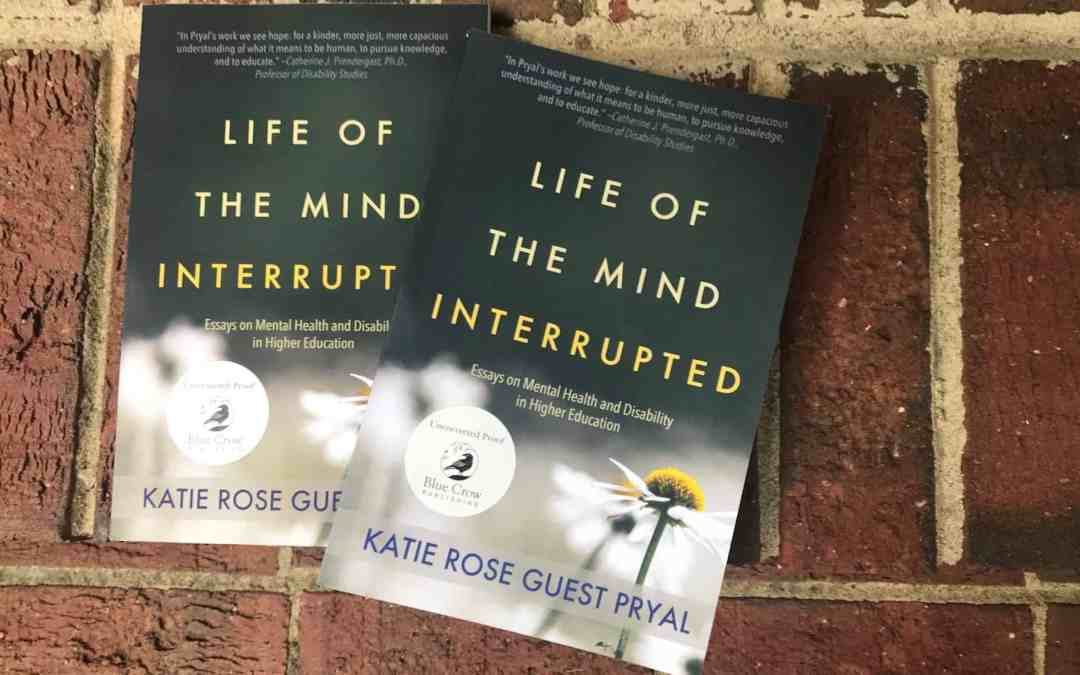 Giveaway Time: LIFE OF THE MIND INTERRUPTED Proofs