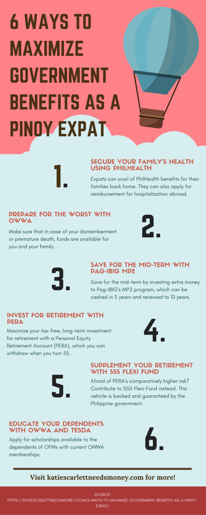 6 ways to maximize government benefits as a pinoy infographic