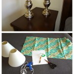 DIY: Recovering Lamp Shades