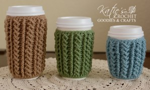 Braided Cable Cup Cover Crochet Pattern