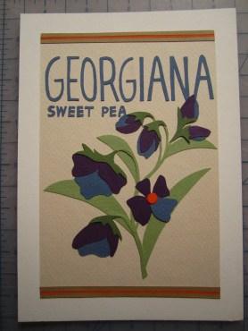 Finished product: Georgiana Sweet Peas!