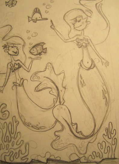 Sketching out the Mermaids