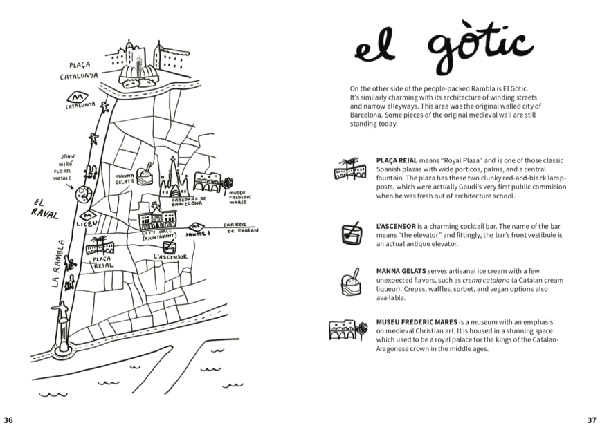 A map of a neighborhood with explanatory text