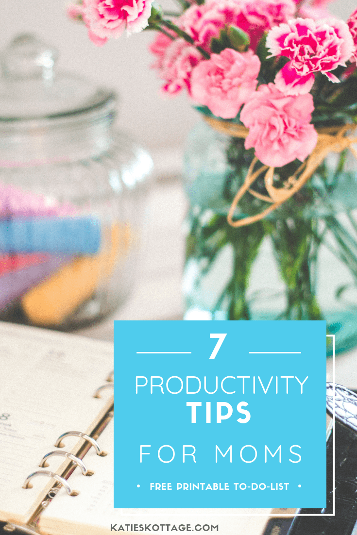 7 productivity tips for a more productive day. Be a more productive mom with these 7 tips. Free printable to-to-list. #todolist #productivity #momlife #freeprintable