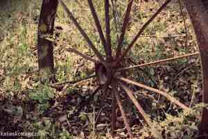 Old rusted wheel