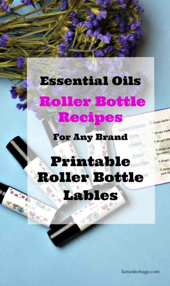 Essential Oils Roller Bottle Recipes and Roller Bottle Labels