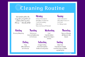cleaning routine checklist katieskottage