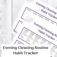 A night time routine for women who want to have a clean home. Use this night time cleaning routine to keep your house clean. The free printable checklist will help you stay on top of your routine. #cleaningroutine #nighttimeroutine #cleaningtips #home #clean #homemaking #declutter