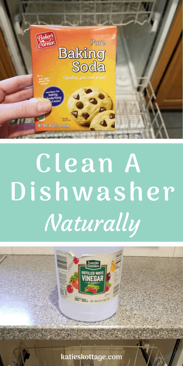 How to deep clean the dishwasher with baking soda and vinegar. I'll take you through each step of cleaning out the whole dishwasher so that you have no more smells, no more water spots on your dishes. #cleaningtips #cleaninghacks #clean #cleaningtipsandhacks #kitchen #dishwasher #naturally #nontoxic
