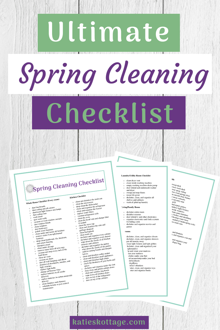 Spring cleaning checklist, hacks and tips that will help you deep clean your whole house. Use my printable list to clean, declutter, and organize your entire home. #springcleaning #springcleaningchecklist #cleaning #clean #printable #checklist #declutter #organize #cleaningtips #cleaninghacks