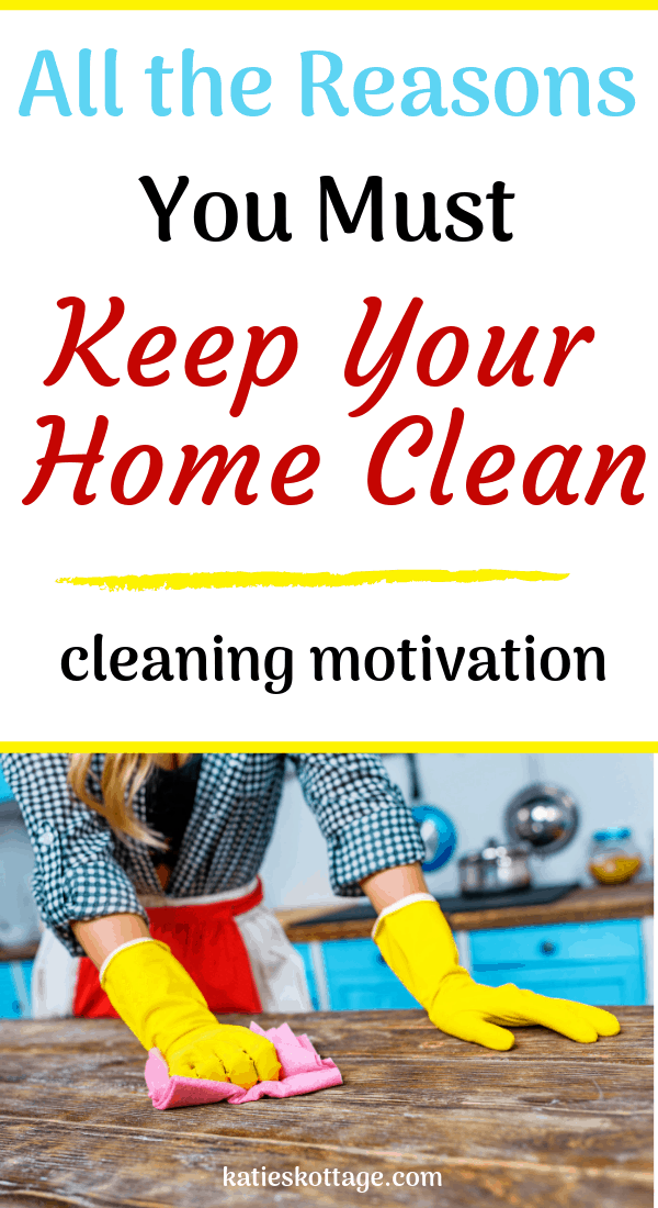 how to keep your house clean. Use this cleaning motivation to build a cleaning routine and stay on top of housework. #cleaning #cleaningtipsandhacks #cleaningroutine #checklist