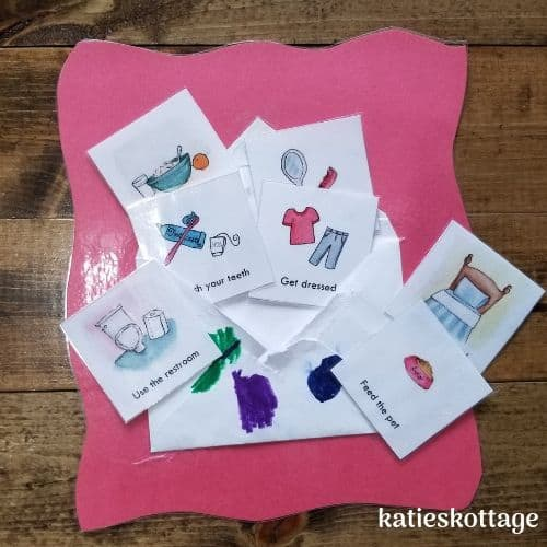 toddler routine cards