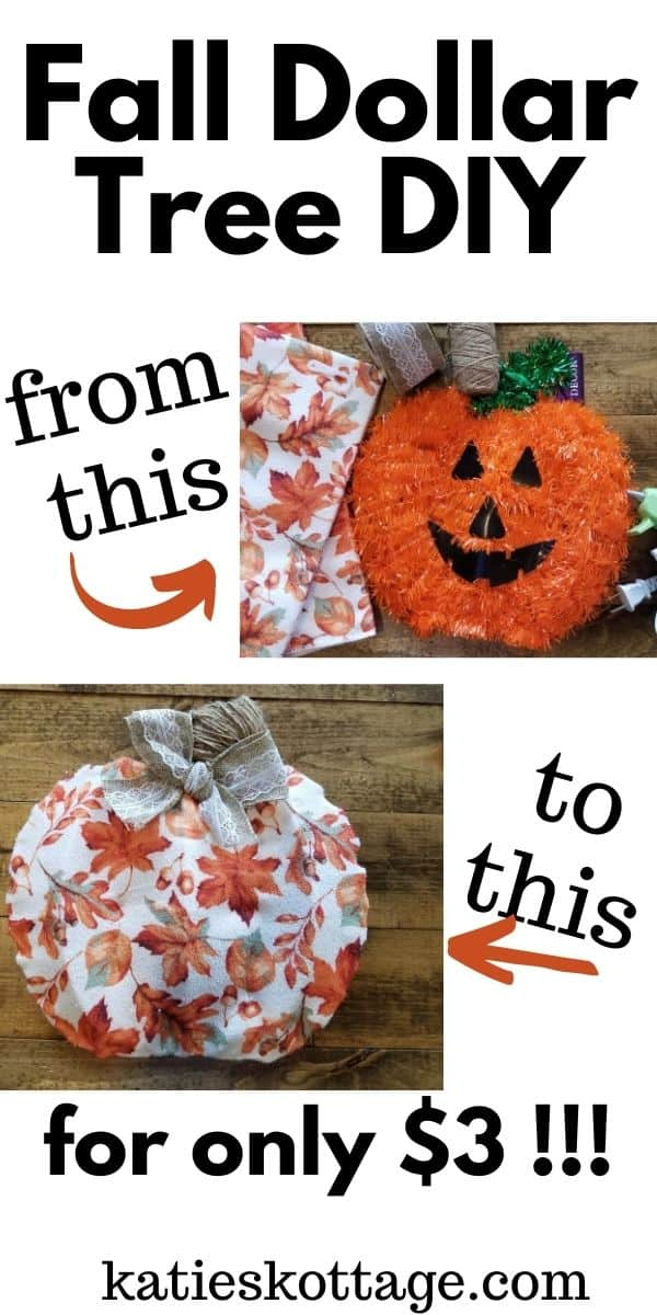 diy pumpkin craft dollar tree