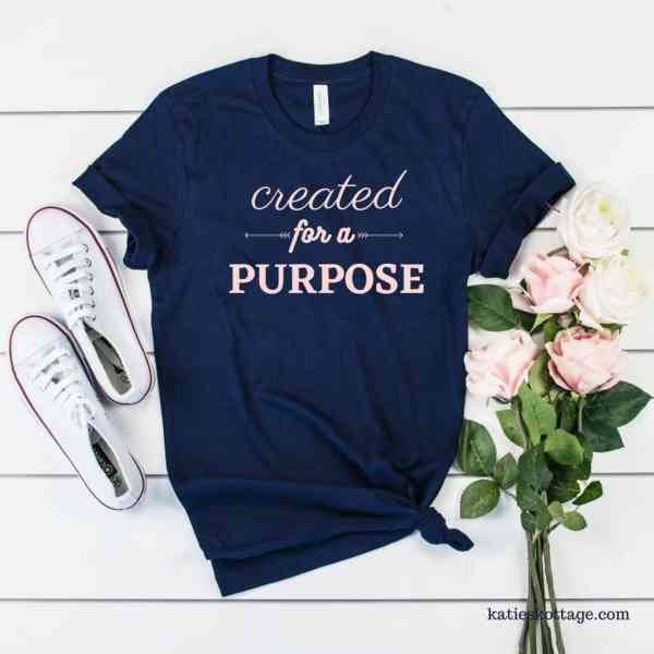 created for a purpose womens t-shirt