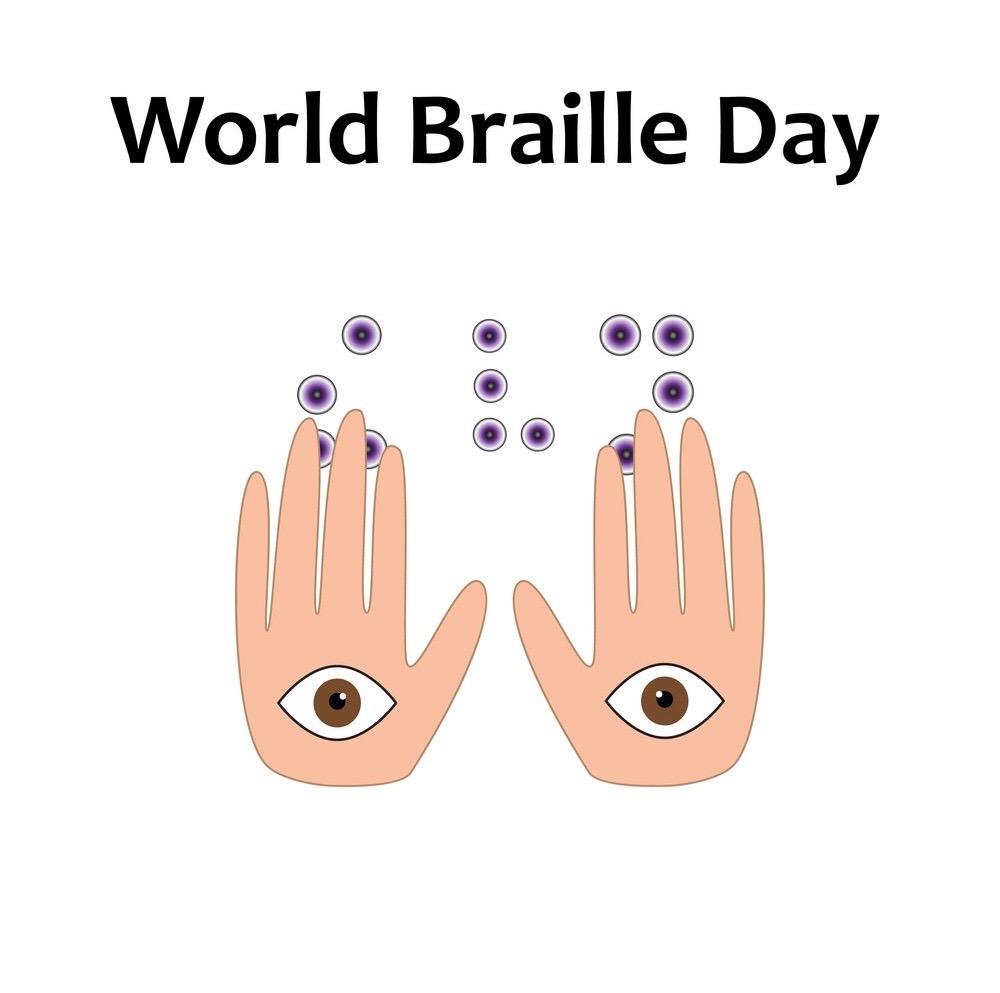 World braille day image.