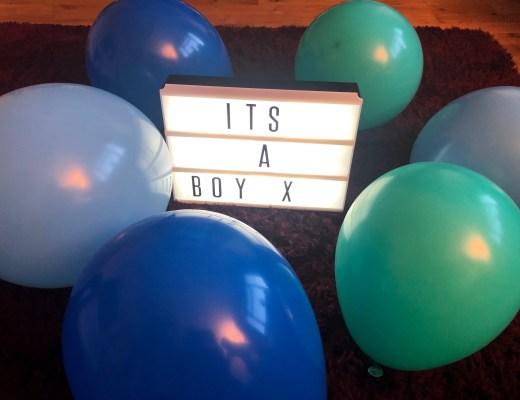 It's a boy pregnancy reveal.