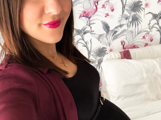 Me at 36 weeks pregnant.