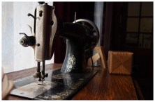 Ma got her own treadle sewing machine out and is working on making it functional again. It's about twice the age as mine (but I still like mine best).