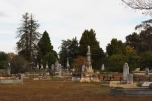 This view shows only a small part of the cemetery.