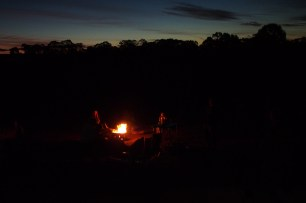 A campfire is practically compulsory in these circumstances. Singing around said campfire is likewise compulsory.