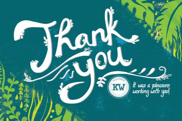 Thank You Card - Final Blue