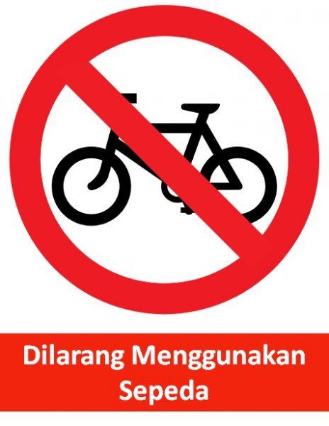 rambu dilarang menggunakan sepeda