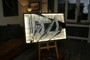 Grand Tableau lumineux à Leds. Cadre acier. 120*80 cm