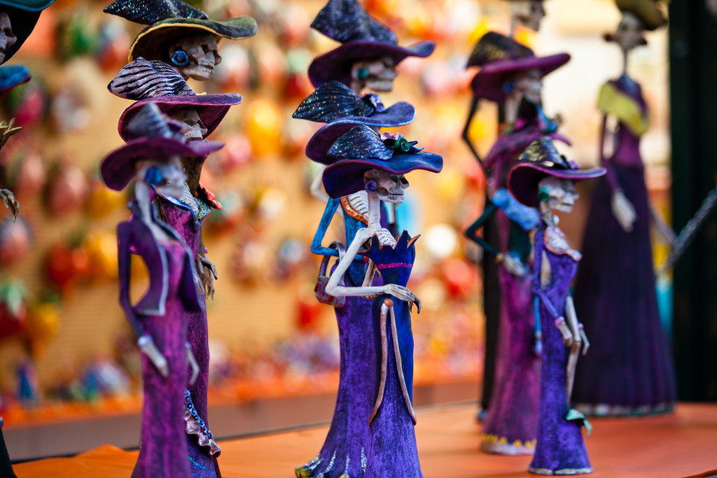 Small models on sale In a San Miguel de Allende market in Mexico ©2013 Nick Katin