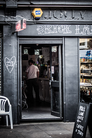 Brick lane cafe Poplar London, England