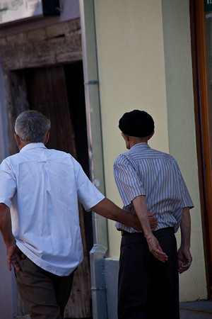 Affectionate men Two men in Mostar © 2012 Nick Katin