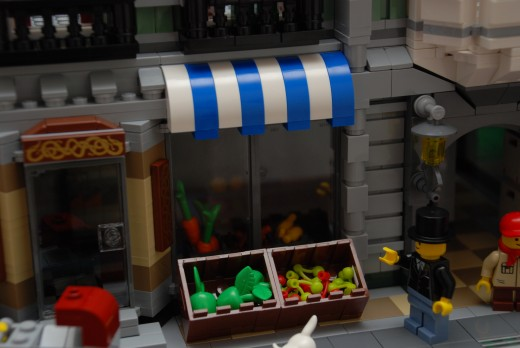 Some LEGO vegetables at the grocery store.