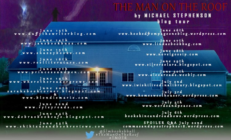 The Man on the Roof by Michael Stephenson Blog Tour Graphic