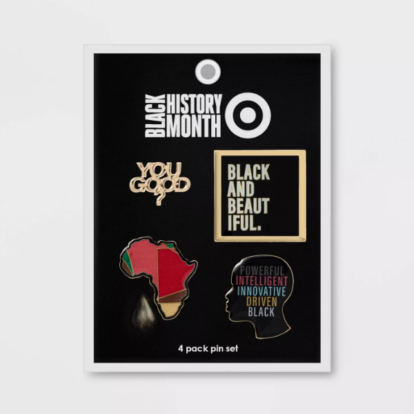 Black History Month Enamel Pin Set