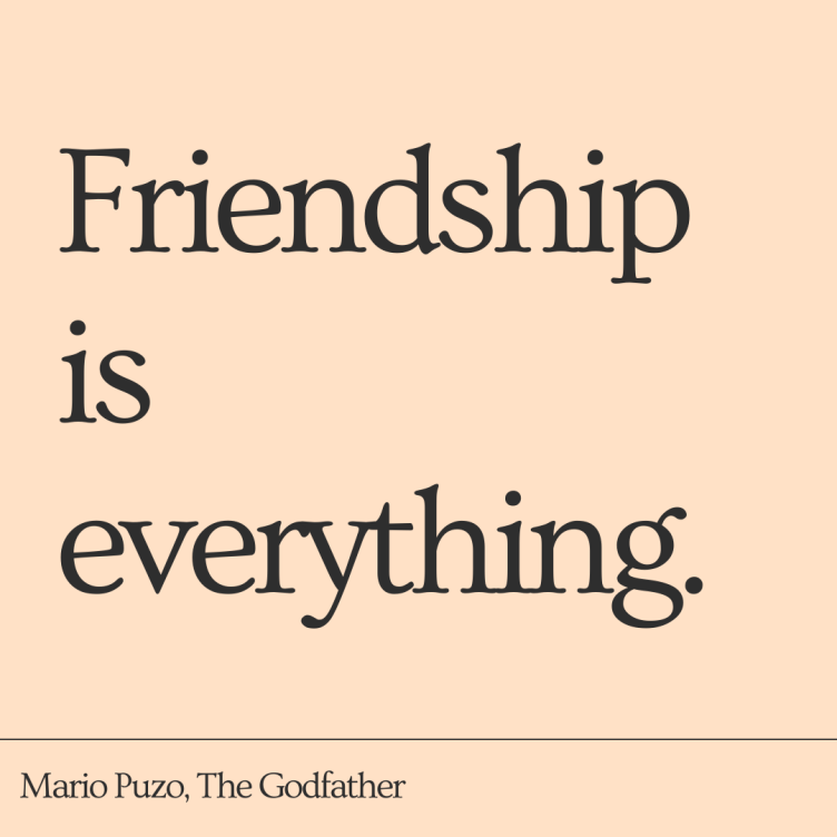 Bookish Friendship Quote by Mario Puzo