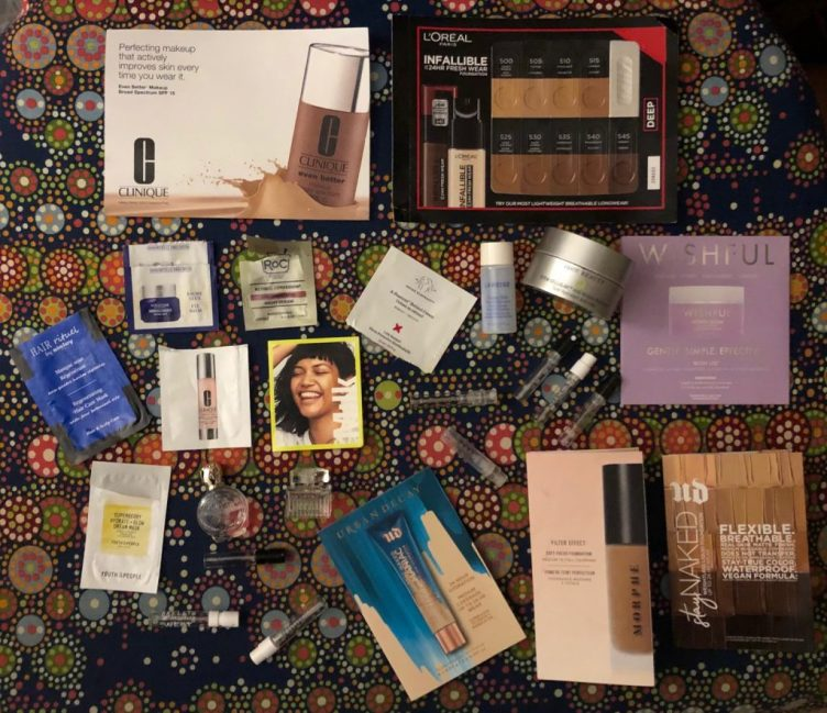 January 2021 Samples Empties