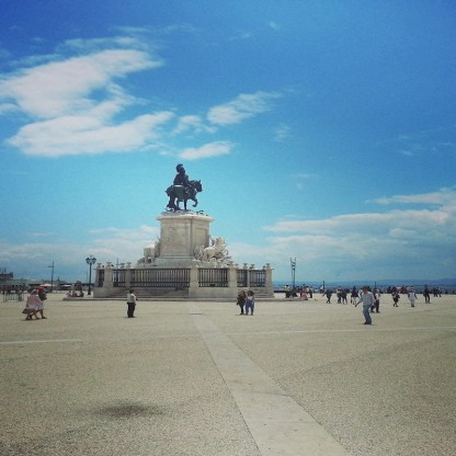 Praça do Comercio mit Blick auf den Tejo